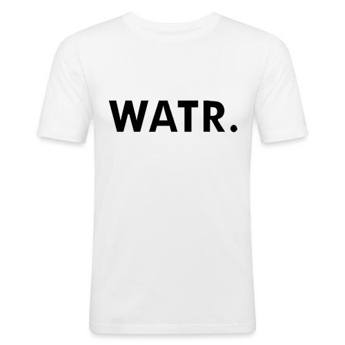 watr extra groot - Mannen slim fit T-shirt