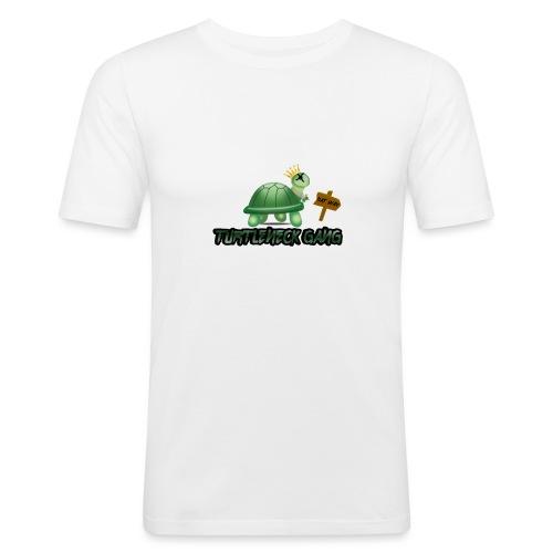 Turtle Neck Design 1 - Men's Slim Fit T-Shirt