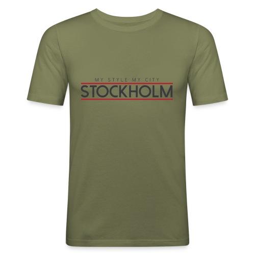 MY STYLE MY CITY STOCKHOLM - Men's Slim Fit T-Shirt