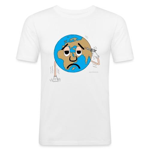 mundo suicida world - Camiseta ajustada hombre