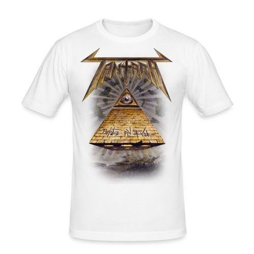 based on evil album shirt png - Slim Fit T-skjorte for menn