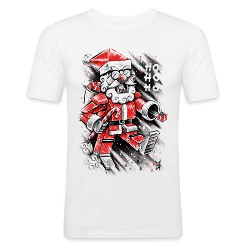 Robot Santa Claus - Men's Slim Fit T-Shirt