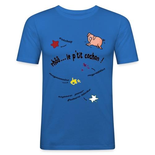 Rhoo le ptit cochon ! (version pour fond blanc) - T-shirt près du corps Homme