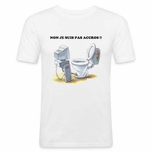 accros du net - T-shirt près du corps Homme