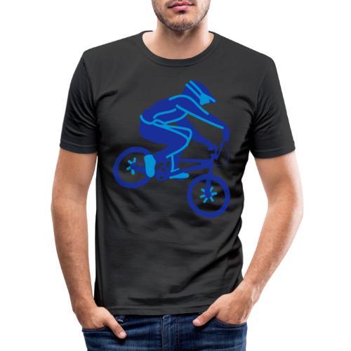 BMX Rider Dark - Mannen slim fit T-shirt