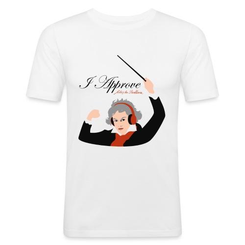 I Approve (Black) - Slim Fit T-shirt herr
