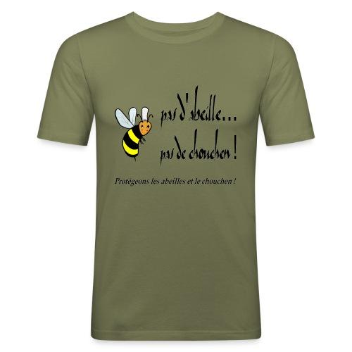 Pas d'abeille, pas de chouchen - T-shirt près du corps Homme