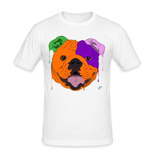 Bulldog - Maglietta aderente da uomo
