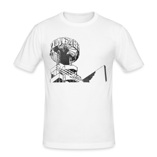 Berlin-Alex - Männer Slim Fit T-Shirt