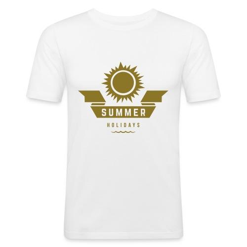 Summer holidays - Miesten tyköistuva t-paita