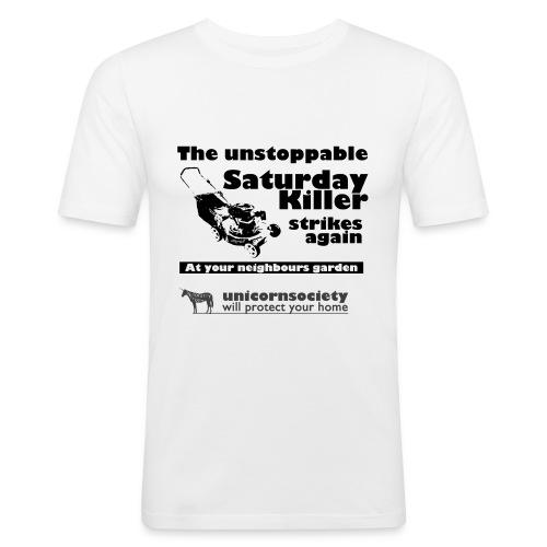 The Saturday killer transparent 04102014 png - Männer Slim Fit T-Shirt