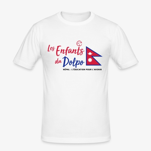 Les Enfants du Doplo - Grand Logo Centré - T-shirt près du corps Homme