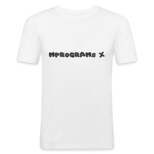 MPROGRAMS X - Maglietta aderente da uomo