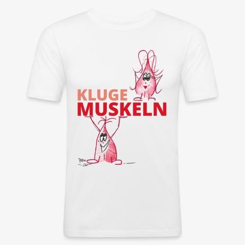 Kluge Muskeln - Männer Slim Fit T-Shirt