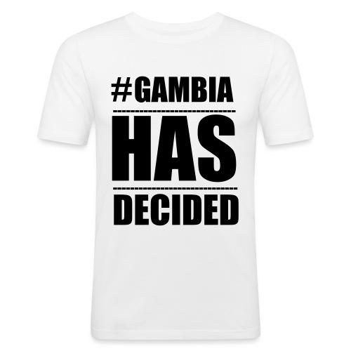 GAMBIA_HAS_DECIDED - Men's Slim Fit T-Shirt