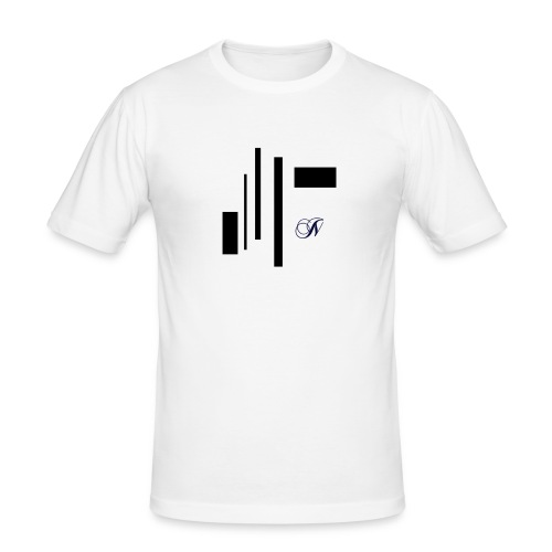 Abstract - Mannen slim fit T-shirt