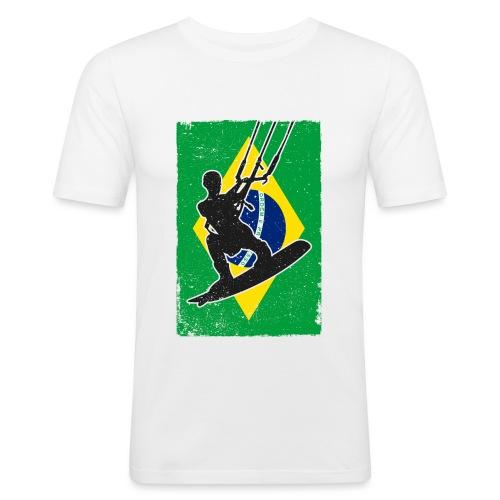 Kitesurfen - Brasilien - Männer Slim Fit T-Shirt
