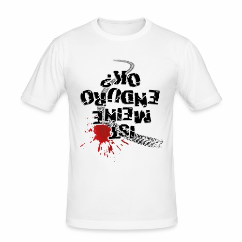 Ist meine Enduro ok? (schwarzer Text) - Men's Slim Fit T-Shirt