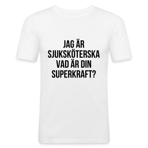 Sjuksköterska med superkrafter - Slim Fit T-shirt herr
