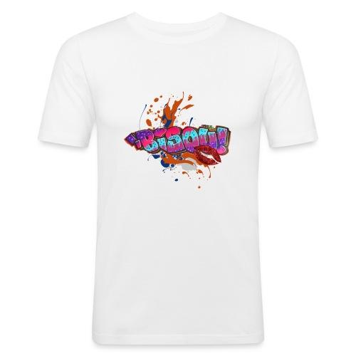 bisou - T-shirt près du corps Homme
