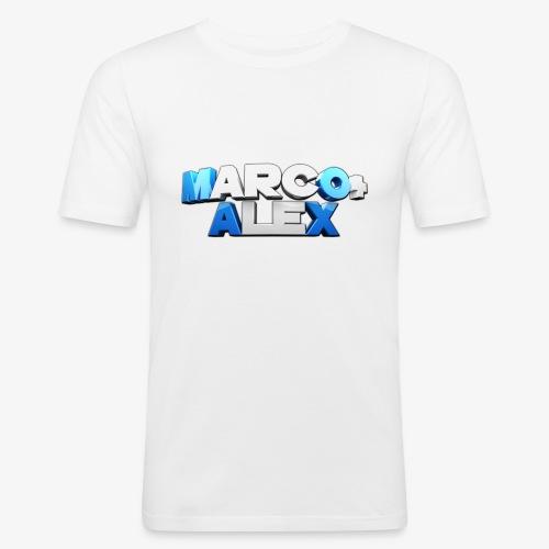 Logo Marco+Alex - Maglietta aderente da uomo