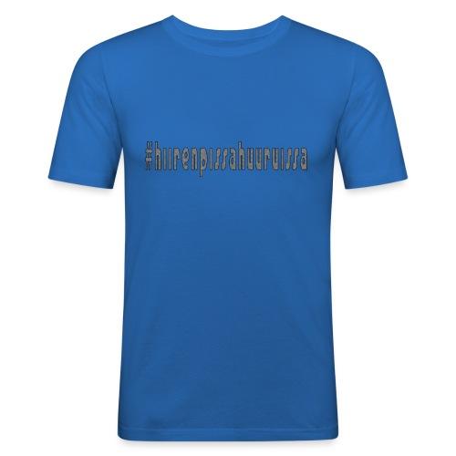 #hiirenpissahuuruissa - Teksti - Miesten tyköistuva t-paita