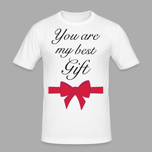 you are my best gift - Men's Slim Fit T-Shirt