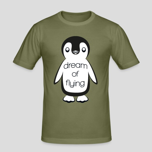 Dream of Flying Pinguin - Men's Slim Fit T-Shirt