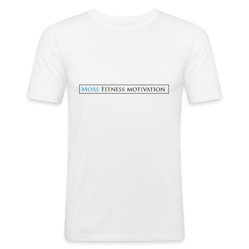 Female More fitness Motivation white/pink - Men's Slim Fit T-Shirt