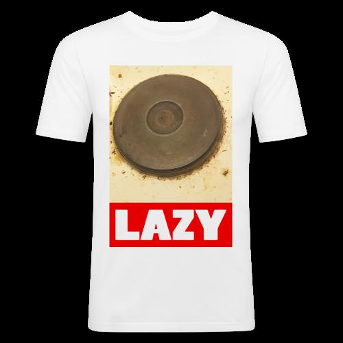 Lazy - Miesten tyköistuva t-paita