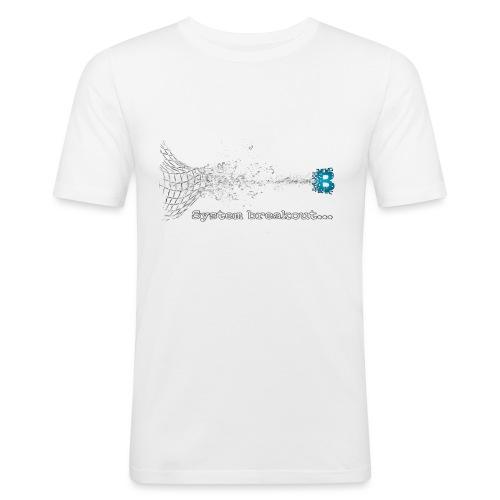 Breakout Blockchain - Männer Slim Fit T-Shirt