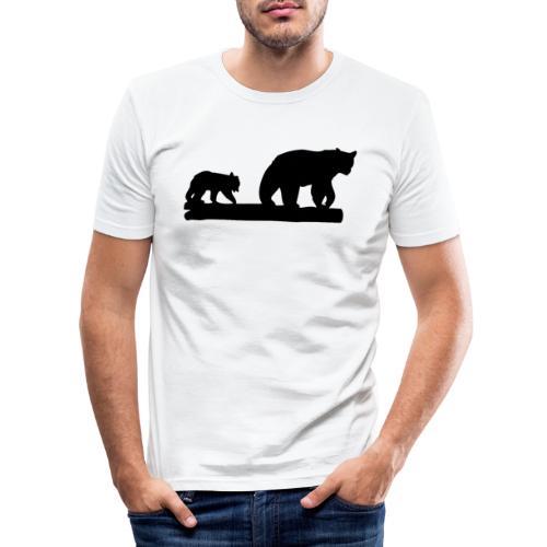 Bären Bär Grizzly Wildnis Natur Raubtier - Männer Slim Fit T-Shirt