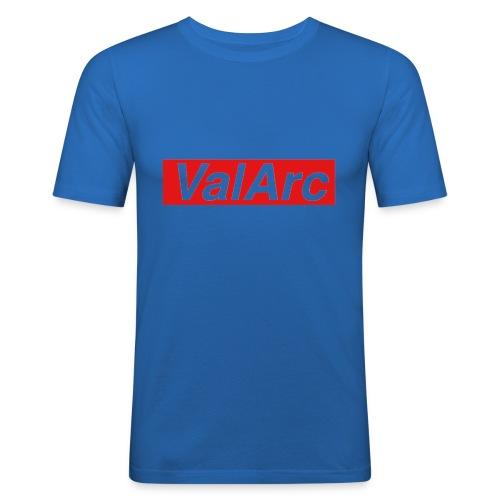 ValArc Text Merch Red Background - T-shirt près du corps Homme