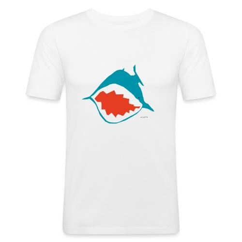 accaeffe's shark - Maglietta aderente da uomo