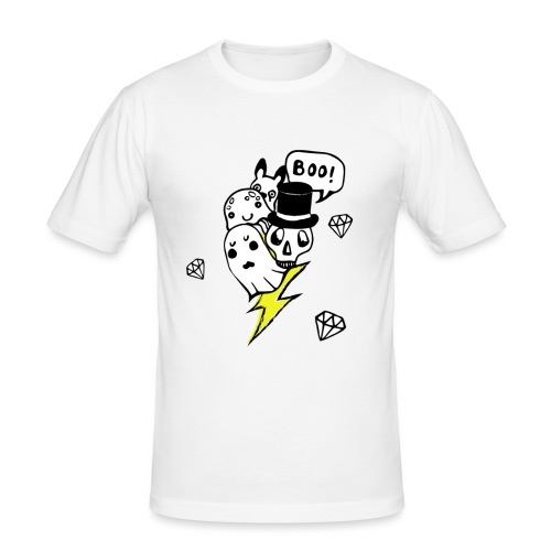 Boo! - Obcisła koszulka męska