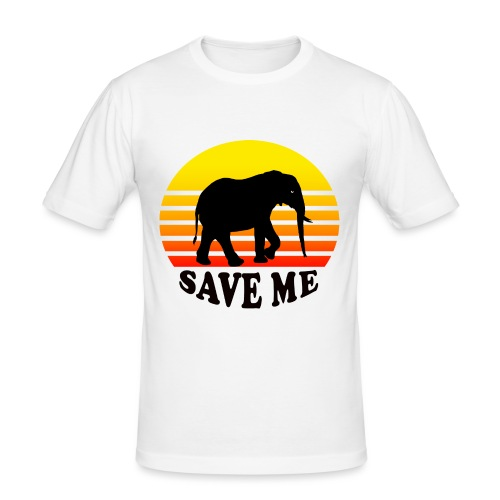 Elefant SAVE ME Schattenriss Sonne - Männer Slim Fit T-Shirt