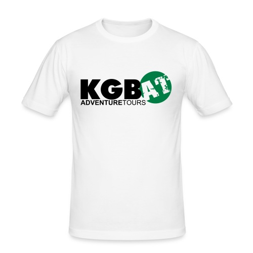 Logo KGB AT Spreadshirt 2 - Männer Slim Fit T-Shirt