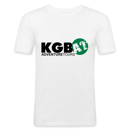 Logo KGB AT Spreadshirt 2 - Männer Slim Fit T-Shirt