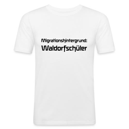 Migrationshintergrund Waldorfschüler - Männer Slim Fit T-Shirt