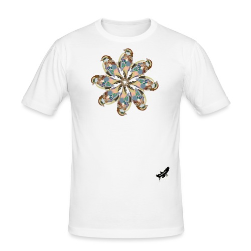'Sparrow Mandala' by BlackenedMoonArts, w. logo - Herre Slim Fit T-Shirt