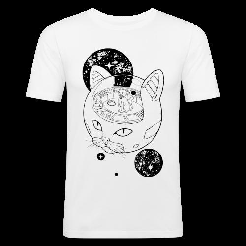 Kosmiczny Kot Imperator - Obcisła koszulka męska