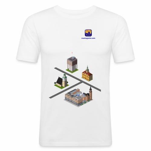 Raumagame mix for white / bale bg - Men's Slim Fit T-Shirt