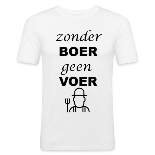 Zonder BOER geen VOER - Mannen slim fit T-shirt