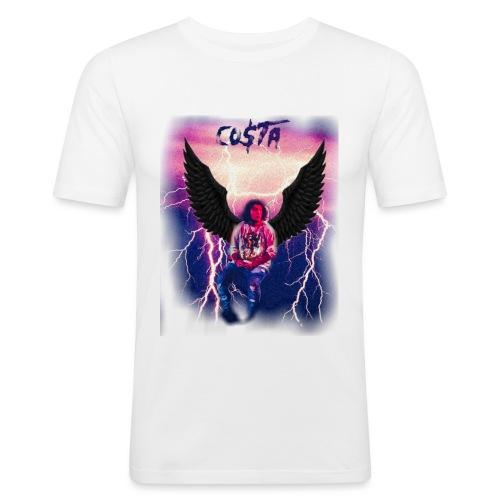 Co$ta Purple Strikes - Men's Slim Fit T-Shirt