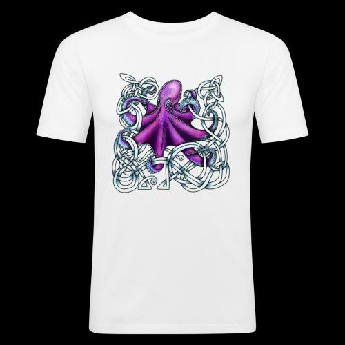 Celtic Octopus - Purple - Men's Slim Fit T-Shirt
