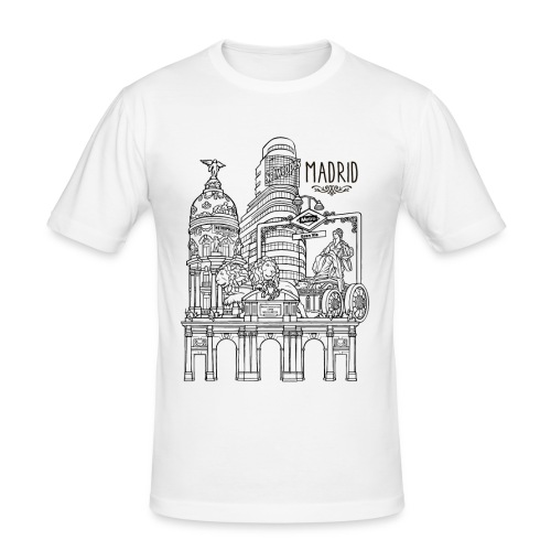 MADRID COLLAGE NEGRO - Camiseta ajustada hombre