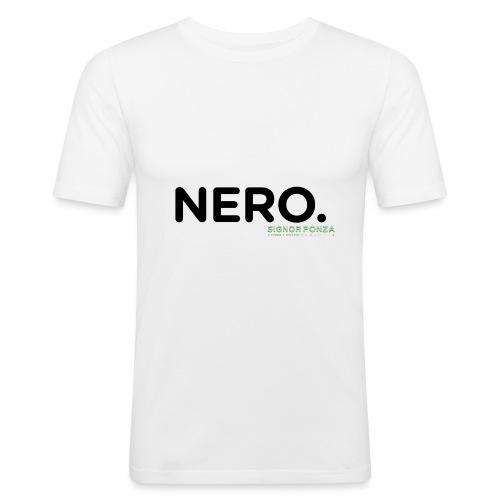 NERO. - Maglietta aderente da uomo