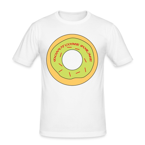Donut Come For Me Red - Men's Slim Fit T-Shirt