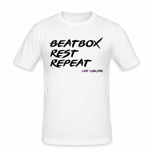 Beatbox Rest Repeat - Large - Men's Slim Fit T-Shirt