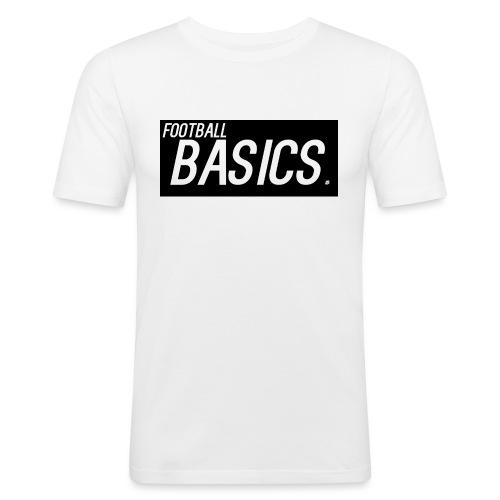 BLACK_AND_WHITE - Men's Slim Fit T-Shirt